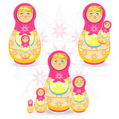 Mother's Day Matryoshka — Stock Vector