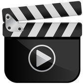 Media player filmu břidlice — Stock vektor