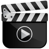 Movie Media Player Film Slate — Vector de stock