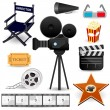 Cinema Movie Icons — Stock Vector