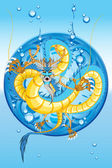 Chinese Water Dragon New Year — Stock Vector