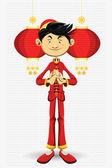 Cartão de ano novo chinês — Vetor de Stock