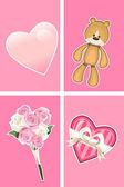 Valentine Ornaments. — Stock Vector