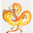 Chinese Dragon New Year — Stock Vector