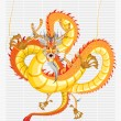 Stock Vector: Chinese Dragon New Year