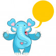 Blue Elephant Welcoming — Stock Vector