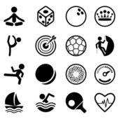 Conjunto de iconos de deporte — Vector de stock