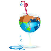 Earth Day Preserve Water — Stock Vector