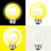 Bombilla de ideas — Vector de stock