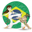 Brazilian Martial Art Capoeira - Stock Vector