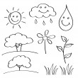 Royalty-Free Stock Vector Image: Summer hand drawn sketches