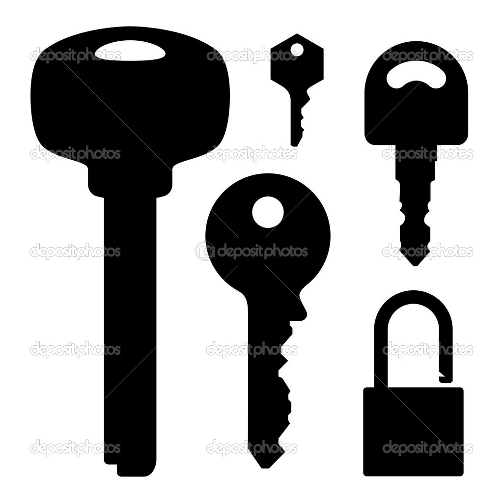 Set of keys & lock, vector illustration  — Stock Vector #10356793