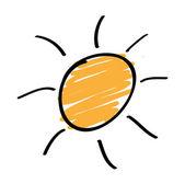 Hand drawn sun — ストックベクタ