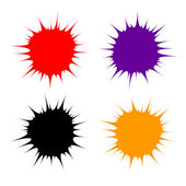 Set of colorful blots — Stock Vector