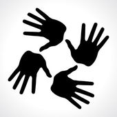 Hand prints icon, abstract illustration for design — Stock Vector