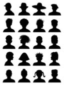 20 Anonymous Mugshots — Stock Vector