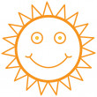 Smiley sun — Stock Vector