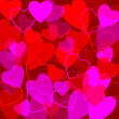 Photo: Valentine's day background with hearts