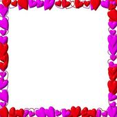 Valentine's day frame with hearts — Stock Photo