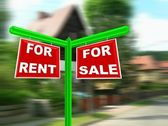Home For Sale Real Estate Sign — Stock Photo