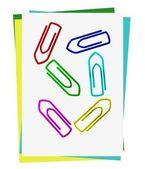 Set of colored paper clips — Stock Photo