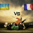 Grunge flags on the stadium — Stockfoto