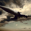 Military airplan on the speed - Foto Stock