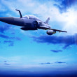 Military airplan on the speed - Foto de Stock