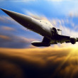 Military airplan on the speed — Foto Stock