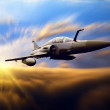 Military airplan on the speed — ストック写真