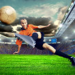 Football player on field of stadium — Lizenzfreies Foto