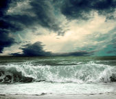 View of storm seascape — Foto Stock