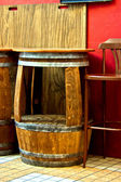 Barrel as little table — Stock Photo