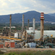 Stock Photo: Petrochemical refinery plant in Tarragona, Spain