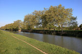 Canal du Midi in Languedoc-Roussillon, France — Stock Photo