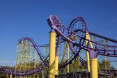 Roller coaster at a theme park — Stock Photo