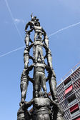 Castellers monument in the city of Tarragona, Catalonia Spain — Foto de Stock
