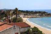 View of the beach in Tarragona, Spain — Stock Photo