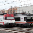 Trains at main station of Tarragona, Spain - Stock Photo