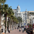 Promenade in Alicante, Spain - Stock Photo