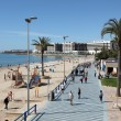 Beach and promenade in Alicante, Spain - Stock Photo