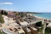 Roman amphitheater ruin in Tarragona, Spain — Stock Photo