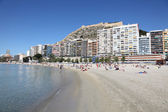 Beach in Alicante, Catalonia Spain — Foto Stock