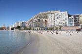 Beach in Alicante, Catalonia Spain — Stok fotoğraf