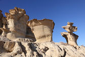 Sandstone Erosions at Bolnuevo. Puerto de Mazarron, Region Murcia, Spain — Stock Photo