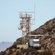 Radar station in the mountains — Stock Photo #10671427