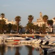 FARO, PORTUGAL - JUNE 20: Boats in the marina of the old Portuguese town Fa — Stock Photo