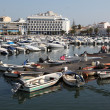 Stock Photo: Boats in marinof old Portuguese town Faro, June 20, 2010