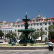 Stock Photo: Fountain at Rossio Square in Lisbon, Portugal