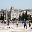 Monastery of the Hieronymites and Tower of Belem in Lisbon, Portugal. - Stock Photo